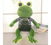Лягушонок плюшевый мягкая игрушка подушка 55 см (мальчик)