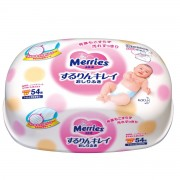 Merries Салфетки влажные детские, 54 шт. (Контейнер)