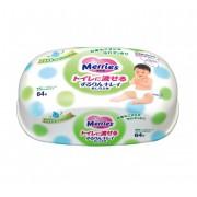 Merries Салфетки влажные детские, 64 шт. (Контейнер)