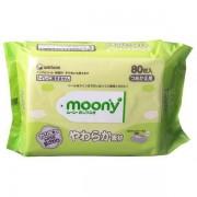 Moony Салфетки влажные детские, 80 шт. (Запасной блок)