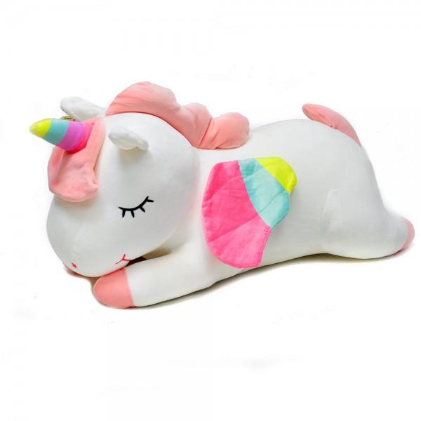 Мягкая игрушка Единорог 60 см (Белая)