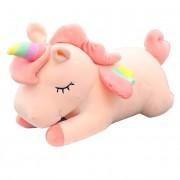 Мягкая игрушка Единорог со светящимся рогом 60 см (Розовая)