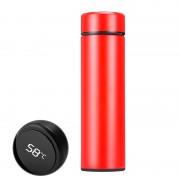 Умный термос с термодатчиком MINIPRO для горячих и холодных напитков, индикатор температуры в крышке (Красный)