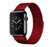 Ремешок Milanese Loop для Apple Watch 42 44 мм (Красный)