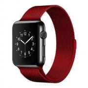 Ремешок Milanese Loop для Apple Watch 42 44 мм ремешок на магнитной застежке, гибкий, нервущийся (Красный)