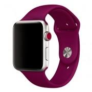 Силиконовый ремешок Sport для Apple Watch 42 44 мм гибкий, для пробежек, спортивный, плотно прилегающий (Бордовый)