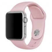 Силиконовый ремешок Sport для Apple Watch 38 40 мм (Пудровый)