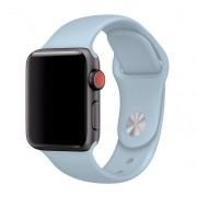 Силиконовый ремешок Sport для Apple Watch 42 44 мм гибкий, для пробежек, плотно прилегающий (Васильковый)