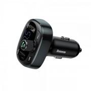 Автомобильное зарядное устройство Baseus CCTM-01 2USB 3.4A с FM-трансмиттером Громкая связь (Чёрный)