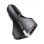 Автомобильное зарядное устройство Baseus Rocket Dual USB 3A QC 3.0 Fast Charge CCALL-RK01 (Черный)