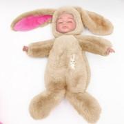 Спящая кукла в одежде зайца (Бежевый)