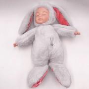 Спящая кукла в одежде зайца (Белый)