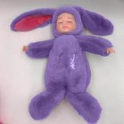 Спящая кукла в одежде зайца (Фиолетовый)