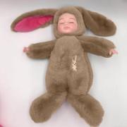 Спящая кукла в одежде зайца (Коричневый)