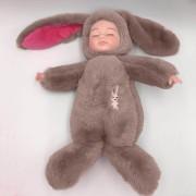 Спящая кукла в одежде зайца (Пудровый)