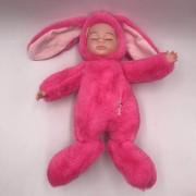 Спящая кукла в одежде зайца (Розовый)