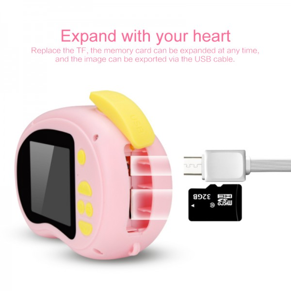 Детский цифровой фотоаппарат X8 многофункциональная камера (Розовый)
