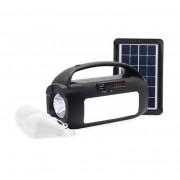 Автономная система освещения с солнечной батареей фонарь, радио, LED панель, две лампы