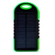 Powerbank со встроенной солнечной батареей Solar Power Bank, объем 5000 mAh (Зеленый)