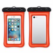 Универсальный плавающий водонепроницаемый чехол для телефона (Оранжевый)