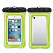 Универсальный плавающий водонепроницаемый чехол для телефона (Зеленый)