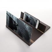 Увеличитель 3D экрана телефона деревянный (Темно-коричневый)