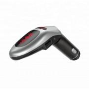 Автомобильный FM-трансмиттер G96 Bluetooth, громкая связь (Серебристый)