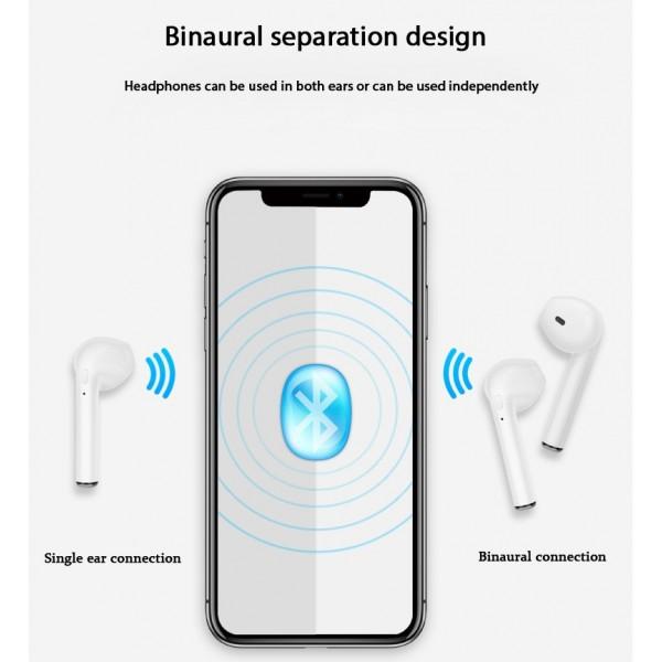 Беспроводные наушники Bluetooth TWS HBQ i7S (Белый)