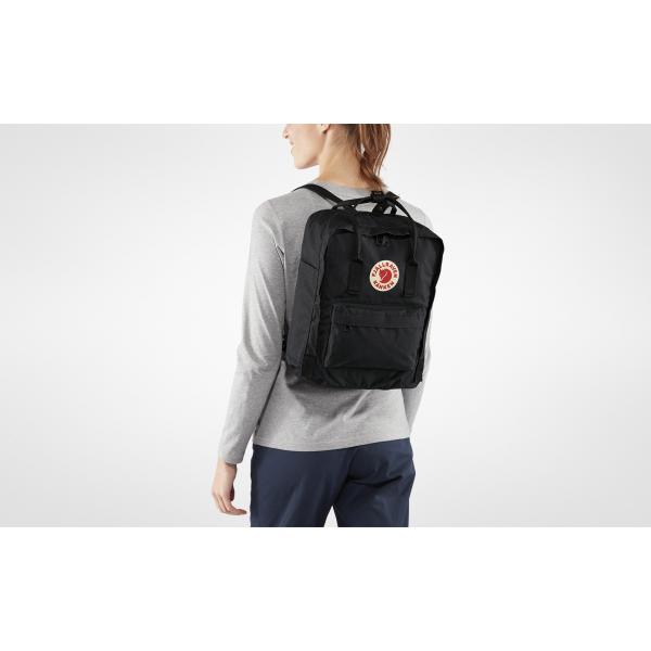 Школьный легендарный рюкзак Fjallraven Kanken classic (Черный)