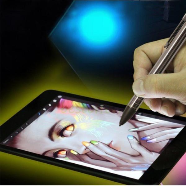 Активный стилус емкостной touch pen stylus с кнопкой для любого экрана смартфона, планшета WH811 (Серебро)