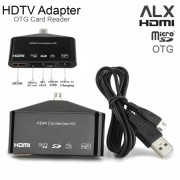 Адаптер HDMI с микро USB OTG SD Card Reader ALX MHL HDTV 11 pin (Черный)