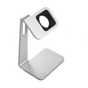 Подставка для часов Apple Watch, алюминий (Серебристый со вставкой)