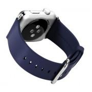 Ремешок для Apple Watch натуральная кожа 38 (Синий)