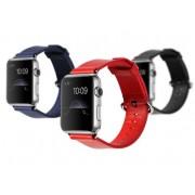 Ремешок для Apple Watch натуральная кожа 38 (Красный)