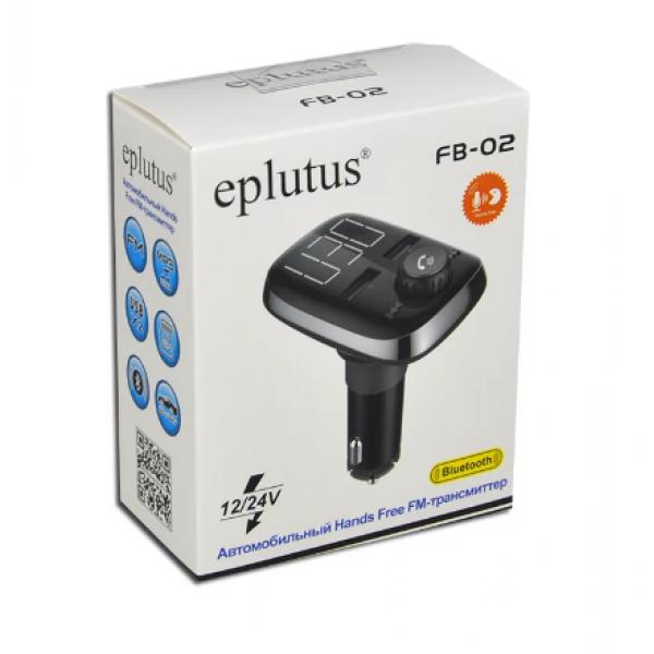 Автомобильный FM- модулятор с Bluethooth Eplutus FB-02 (Черный)