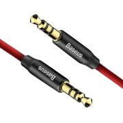Кабель Baseus AUX Yiven Audio Cable M30 50 см CAM30-A91 (Красно-черный)