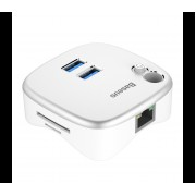 Мультифункциональный USB-Hub Baseus Notebook Expansion Dock (Белый)
