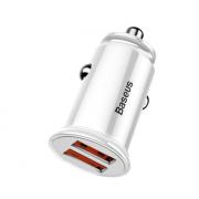 Автомобильное зарядное устройство Baseus Dual QC3.0 Quick Car Charger CCALL-YD02 (Белый)