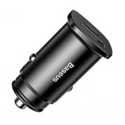 Автомобильное зарядное устройство Baseus Square Metal 30W PPS USB+Type C Quick Charge 4.0 CCALL-AS01 (Черный)