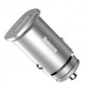 Автомобильное зарядное устройство Baseus Square Metal 30W PPS USB+Type C Quick Charge 4.0 CCALL-AS0S (Серебро)