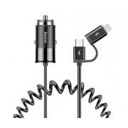 Автомобильное зарядное устройство Baseus Enjoy Together 2in1 Car Charger CCALL-EL01 (Черный)
