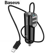 Автомобильное зарядное устройство Baseus iP+2USB Energy Station CCNL-01 (Черный)