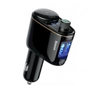 Автомобильное зарядное устройство Baseus Locomotive Bluetooth MP3 CCALL-RH01 (Черный)