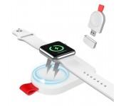 Беспроводная зарядка Floveme Portable Magnetic Qi Wireless Charger для Apple Watch (Белый)