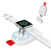 Беспроводная зарядка Floveme Portable Magnetic Qi Wireless Charger для Apple Watch (Белый)