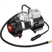 Однопоршневой автомобильный компрессор 505 с фонарем (Черный с серебром)