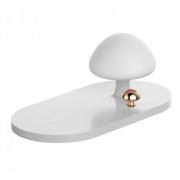 Беспроводное зарядное устройство Mushroom Lamp Desktop Qi Wireless Charger (Белый)
