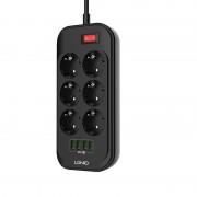 Сетевой фильтр LDNIO 6 Power Socket with 4 USB SE6403 (Черный)