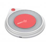 Ультротонкое зарядное устройство LDNIO AW001 Universal Qi Wireless Charge (Белый с красным)