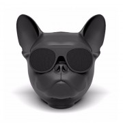 Колонка Bluetooth Aerobull в форме головы французского бульдога маленькая (Черный)